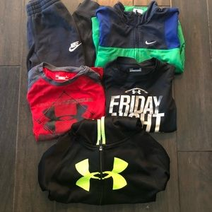 Lot of 5 - Boys Nike & Under Armour - size 6